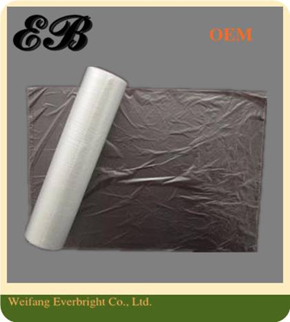 HDPE/Poly Plastic Flat Food Packaging/Packing Bag Freezer Bag On Roll