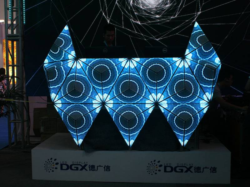 Small Night Elf DJ booth P5 led display screen