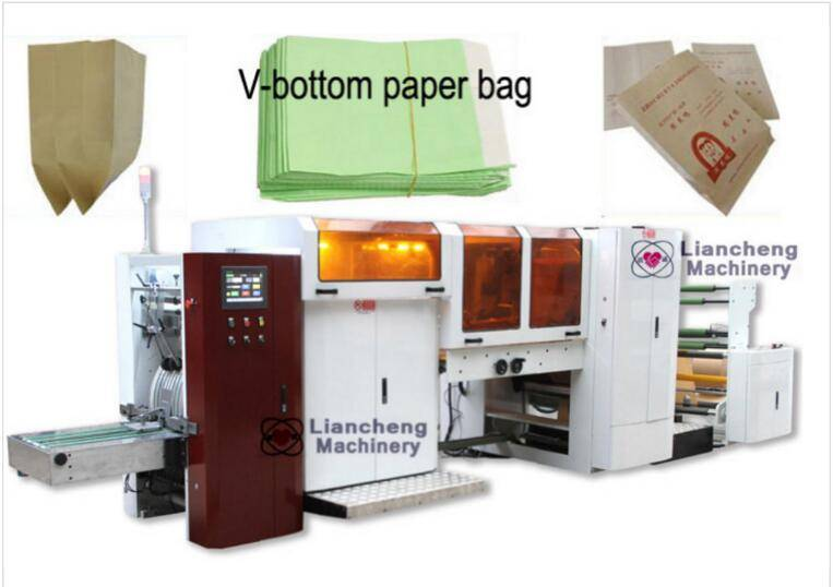 LC-250 V-bottom Paper Bag making Machine (bag with window) food bags,bread bag ect