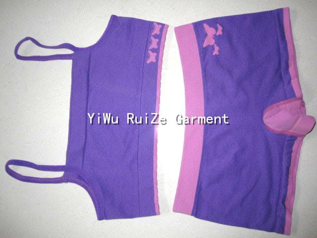 Ladies Seamless Sports Set camisole&brief suit