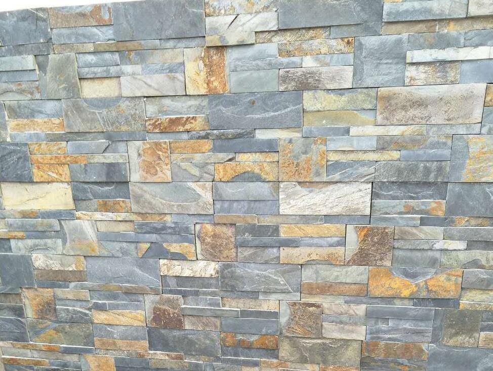 Rusty slate culture stone panel for wall cladding