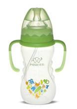300ml Wide-neck finger bottle with hanger( dual color)