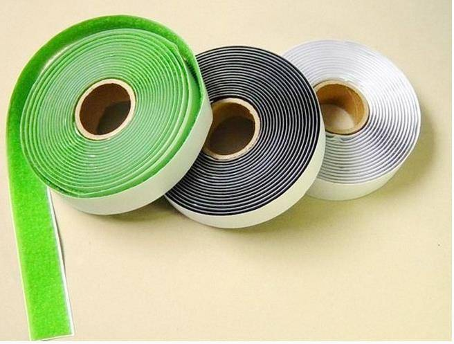Factory Direct Sale Black and White Self-Adhesive Hook and Loop Tape