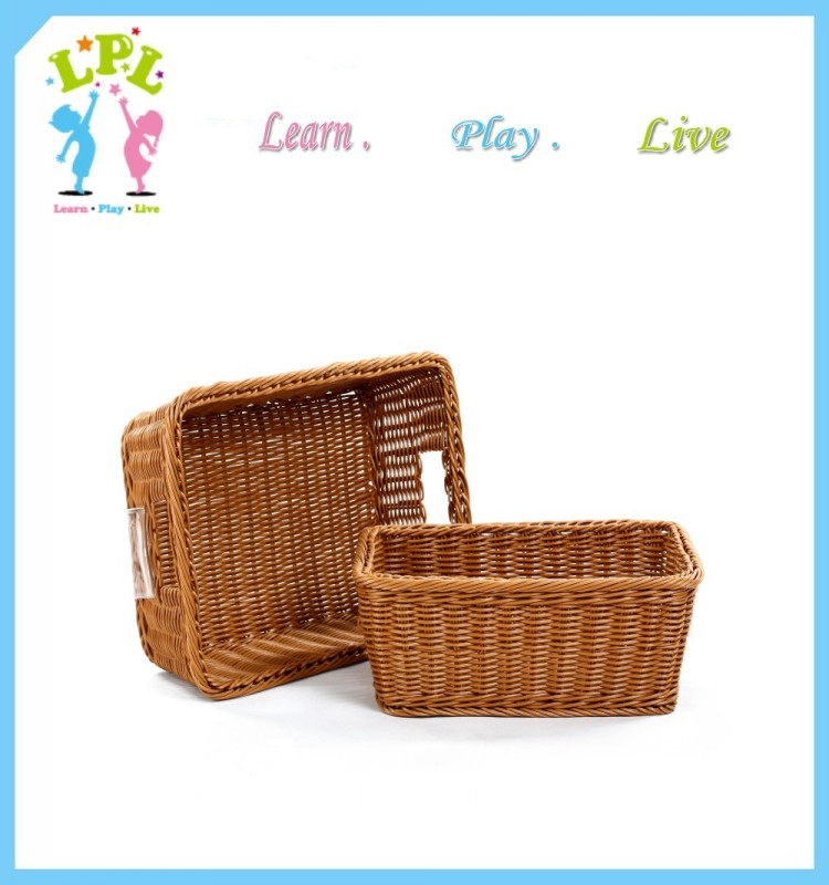 Food-Grade Rattan plastic factory handmade wicker basket