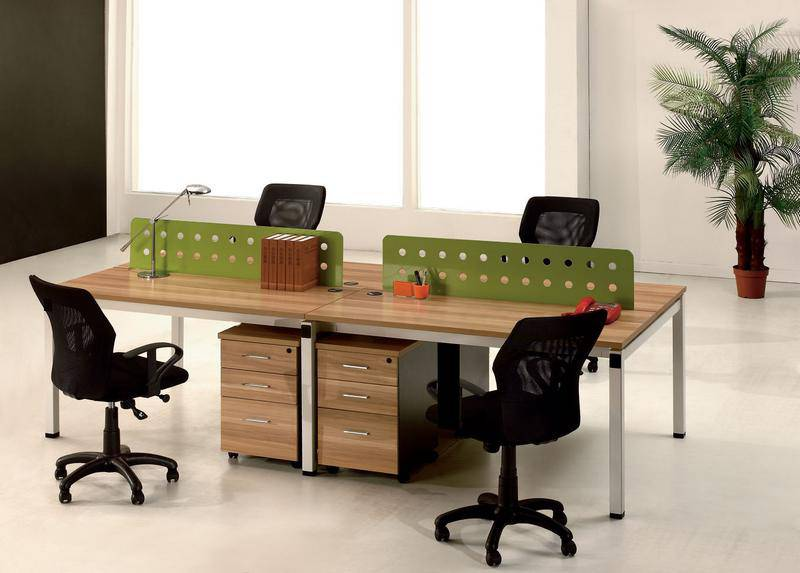 Metal leg wooden panel workstation, diffferent layout office partition