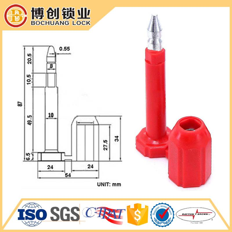 High security bolt seal for container cargo trailer tank