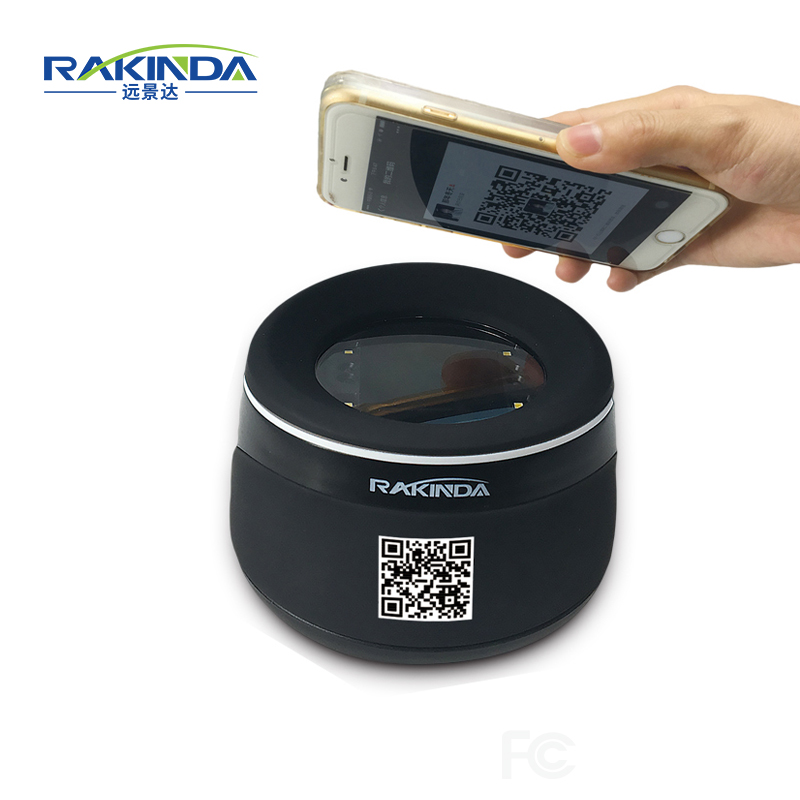 RD4100 High Quality USB Or RS232 Interface Desktop Barcode Reader Qr Code Scanner For Mobile Phone