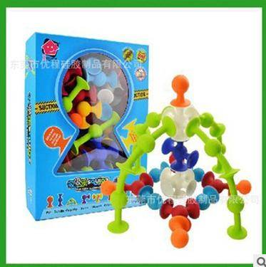 Silicone Little Squigz Suckers Puzzles Toys