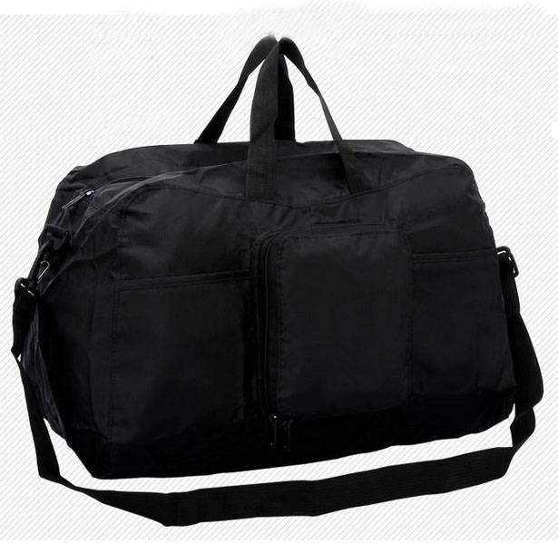 Small MOQ Custom Printed 190T polyester foldable travel bag