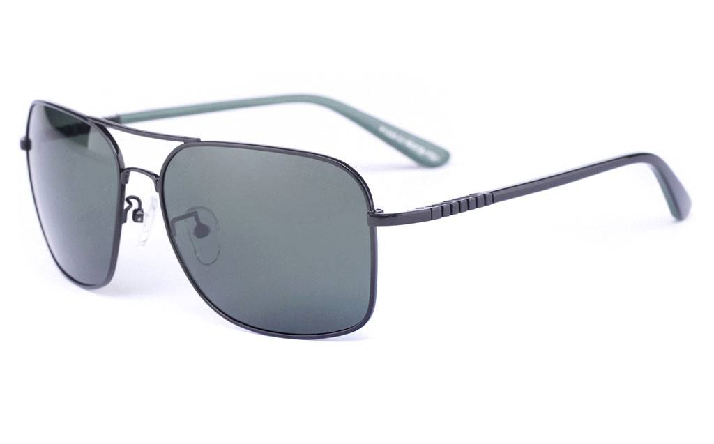 Black P1333 Full Rim Square Metal-Stainless Steel Glasses