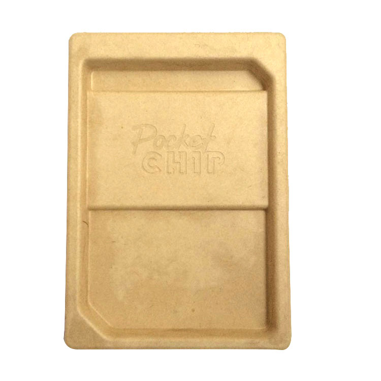 Eco-friendly bamboo molded electronic molding packaging insert paper paper pulp tray
