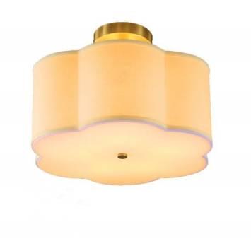 American morden Style full Copper semi-flush mounted ceiling lamp