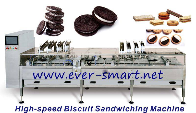 Four Lane Double Color Biscuit Sandwiching Machine