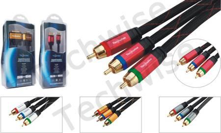 3RCA male-3RCA male cable