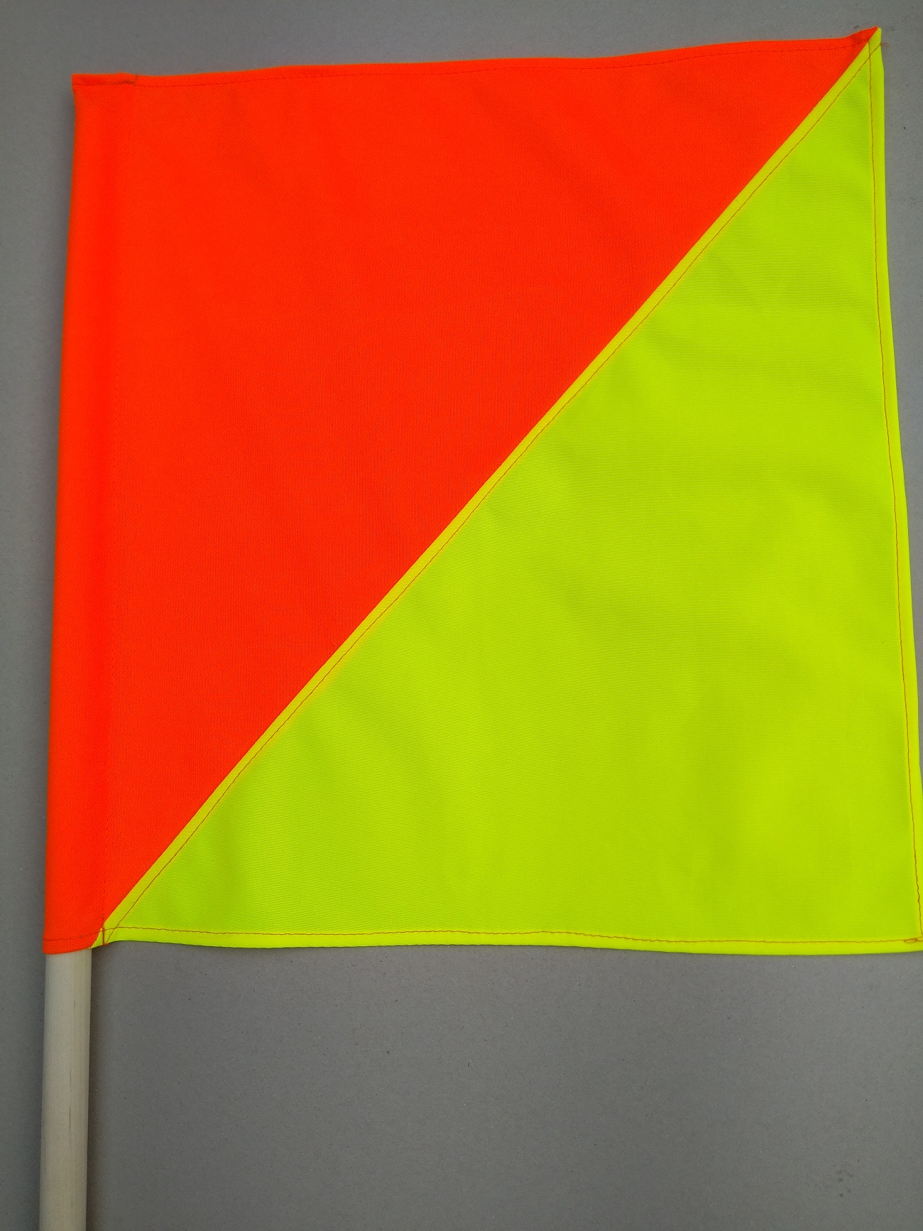 supply PVC coated fabric warning flag safety flag with wood dowel