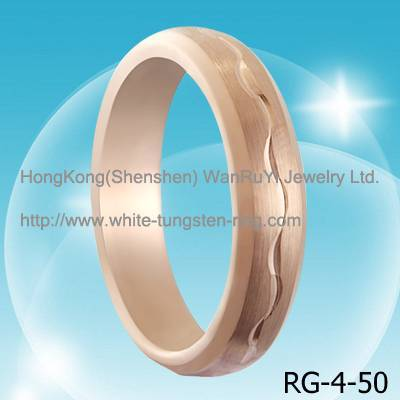 Simple Style Hot Sales Tungsten Carbide Ring Rose Gold Plated