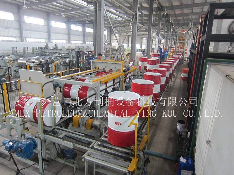 Steel drum making machine manufacturer 55 gallon or steel barrel production line 210L