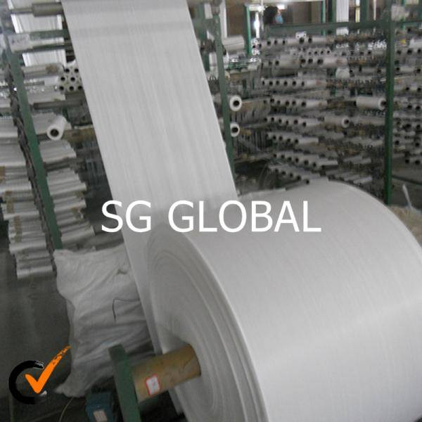 China wholesale white coated 100% pp woven facric
