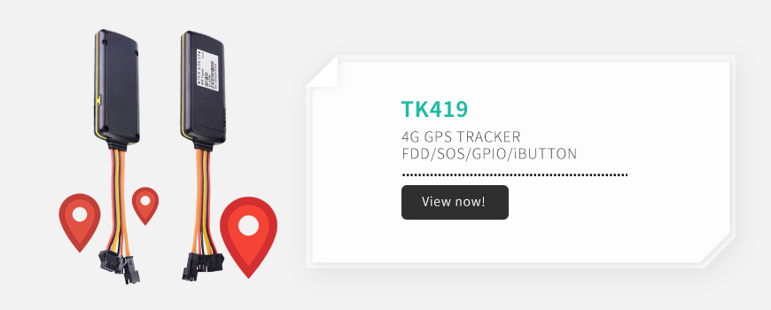 4G GPS tracker with SOS Button for vehicle/cargo/fleet tracking TK419