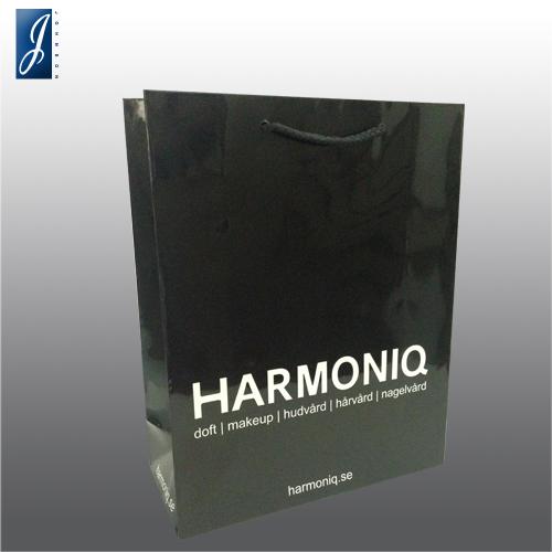 Customized medium promotional paper bag bag for HARMONIQ