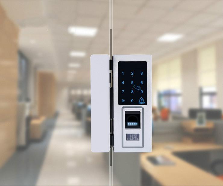Intelligent Fingerprint Password Card Glass Door Lock