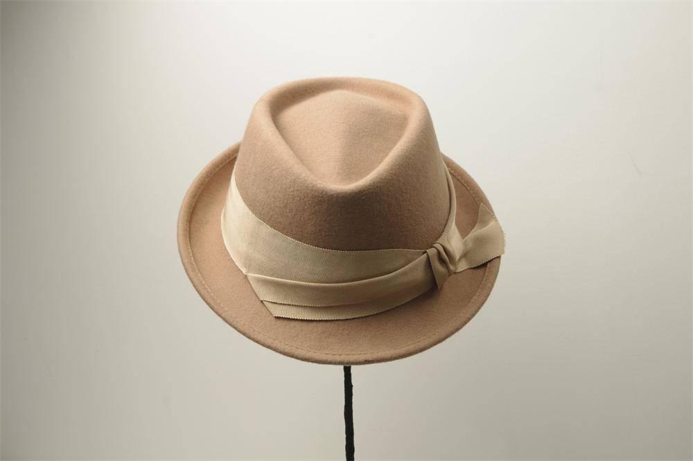 Wool Felt Bucket Hat For Woman (FW104018)