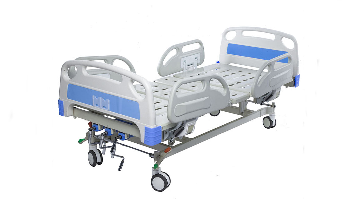 2019 Three cranks new manual medical hospital bed for sale