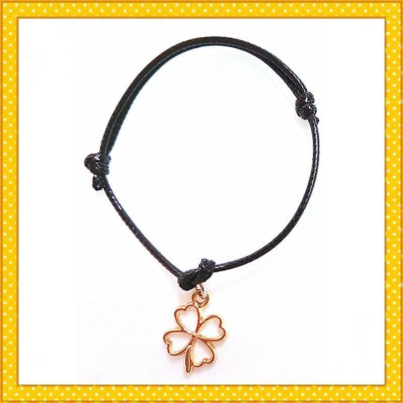 lucky flover custom cute gold plated charm bracelet
