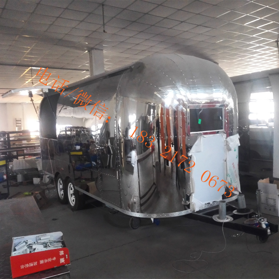 Saudi Arabia hot sale stainless steel food truck mobile flat grill food trailer fryer fast food cart