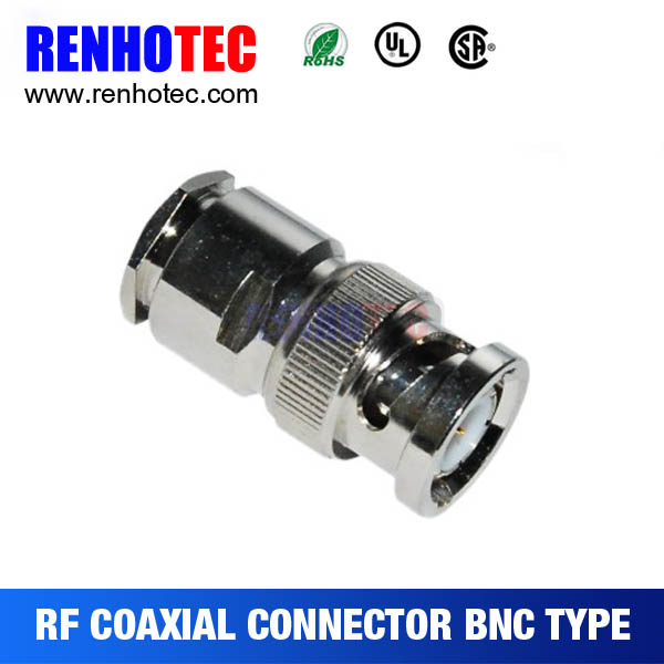 clamp type BNC plug for cable