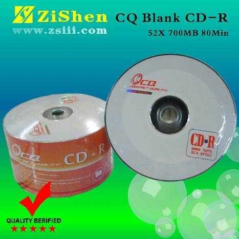 CQ 100% high quality Recordable blank cd