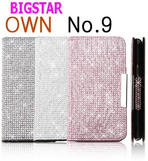 [ BIGSTAR OWN NO.9 JELLY ] CELL PHONE CASE CUBIC BLING BLING MOBILE PHONE CASE