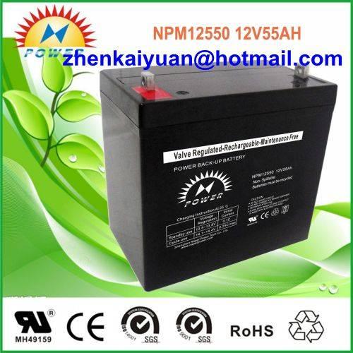 lead acid /sealed /ups/solar/ battery12V55Ah