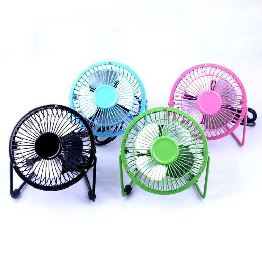 "4""USB mini table metal fan ( Aluminum core motor )"