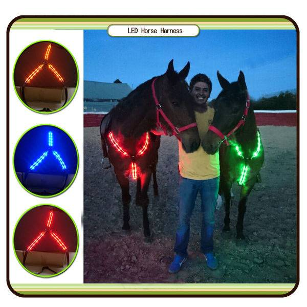 new products 2016 Led horse harness/strap
