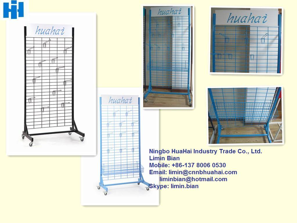Grid wall display stand