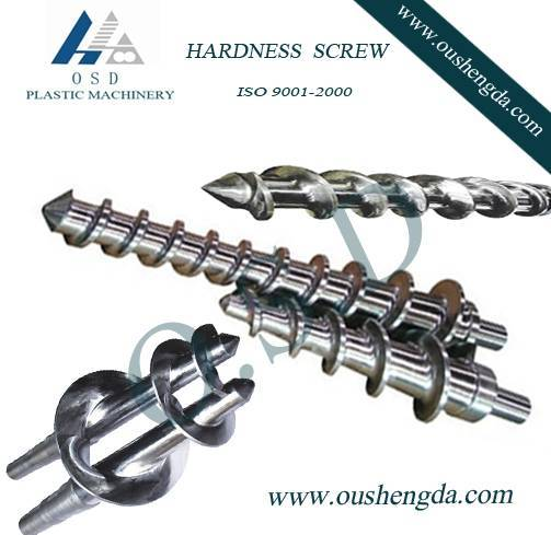 Hot feed rubber screw and barrel for extrude machine