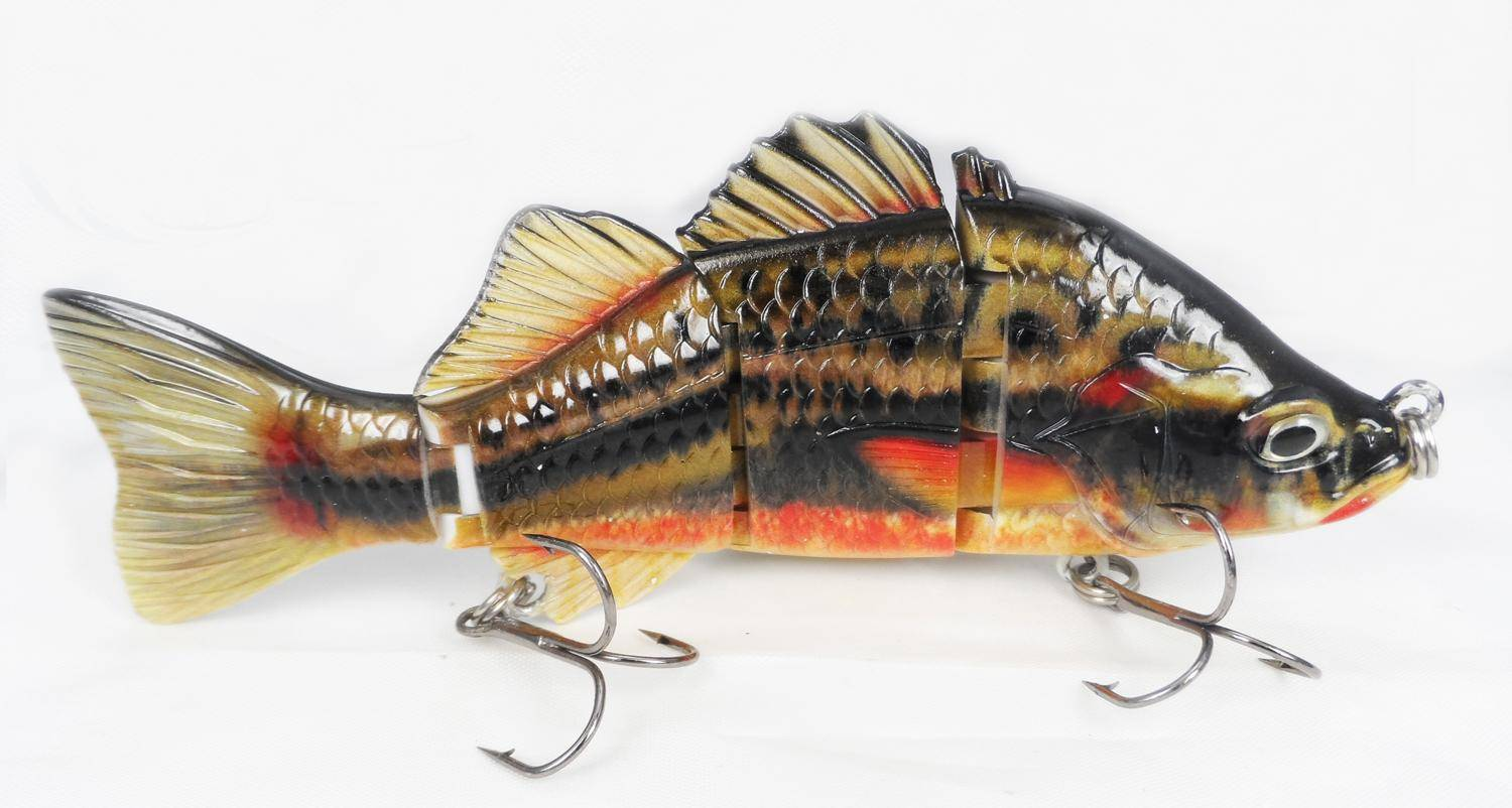 Sea bass 4 section colorful ABS wholesale hard fishing lure