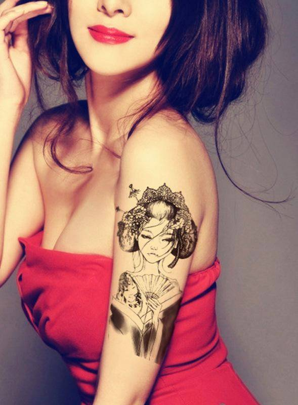 Colorful Temporary Tattoos For Women Small Flower Design Fashion Waterproof Temporary Tattoo Body Ar