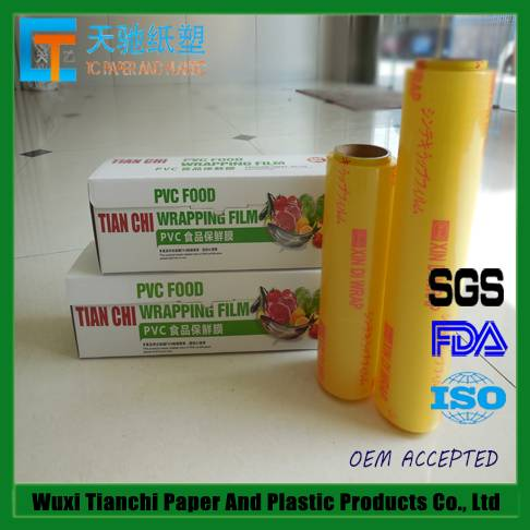 300M-2500M Food Grade PVC Cling Film For Food Packaging