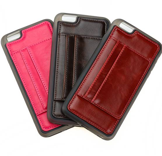 New style PU leather with TPU 2-in-1 phone cover with card holder