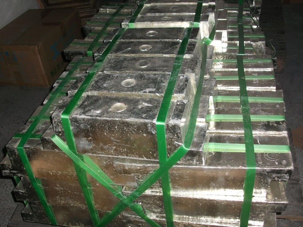 High quality raw metals tin ingot with high purity