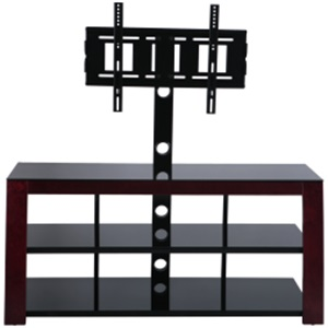 modern black silk screen tempered glass tv stand