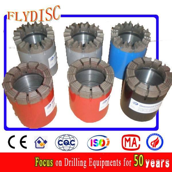 Impregnated diamond core drill bit
