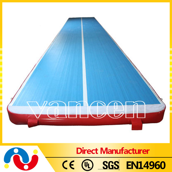 DWF inflatable air tumble track, tumble track inflatable air mat for gymnastics