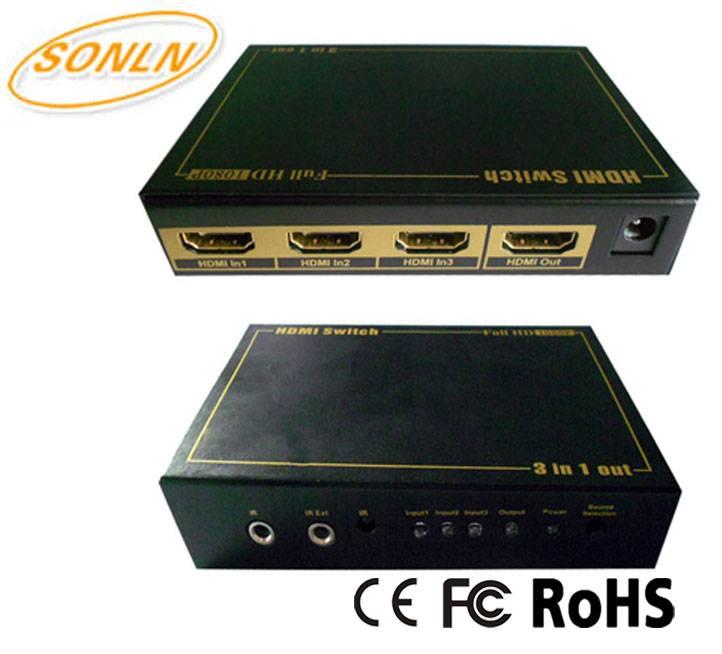 HDMI Switch 3X1 Support 4Kx2K 3D IR