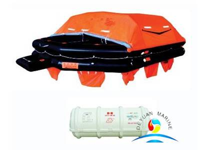 Marine 6 Person Throw Over Board Life Raft