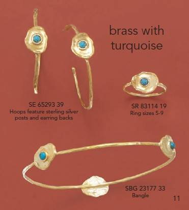 Brass Jewelry ,Turquoise Jewelry ,Gold plated jewelry ,Ring ,Earrings ,Bangle
