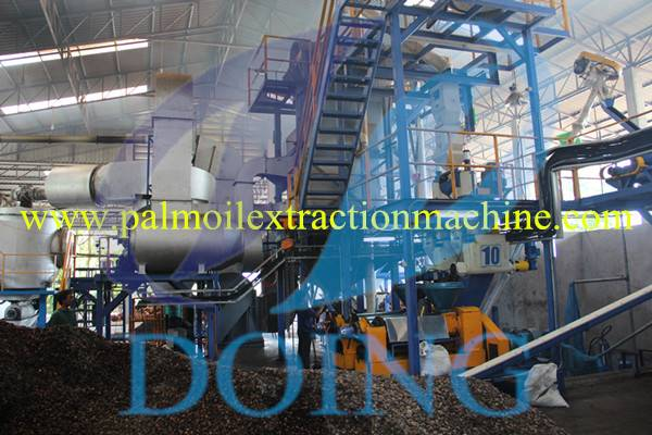 Work flow of new technology palm oil extraction machine
