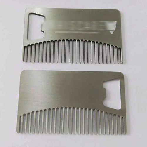 Zinc Alloy Antique Nickle Credit Card Beard Comb Bottle Opener